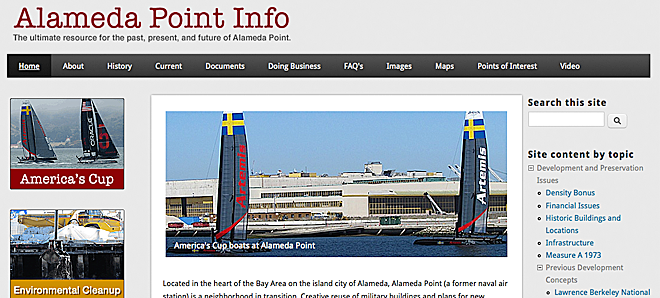 The new version of Alameda Point Info