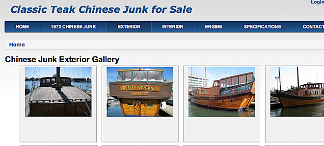 Chinese Junk for Sale