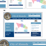 Responsive Web Design - Alameda's city website displays at different screen sizes