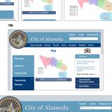 Responsive Web Design - Alameda's city website displays at different screen sizes