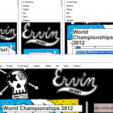 Responsive web design - seen here in 4 different layouts.
