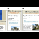 Responsive layouts for 320, 480, and 768 pixels.