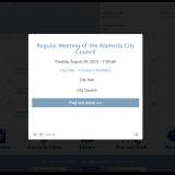 Community calendar pop-up event.