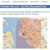 Location page.