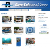 Services provided by Rivers End Marina.