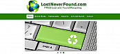 Lost Never Found drupal website
