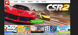 Mobile-first corporate website for Zynga, Inc.